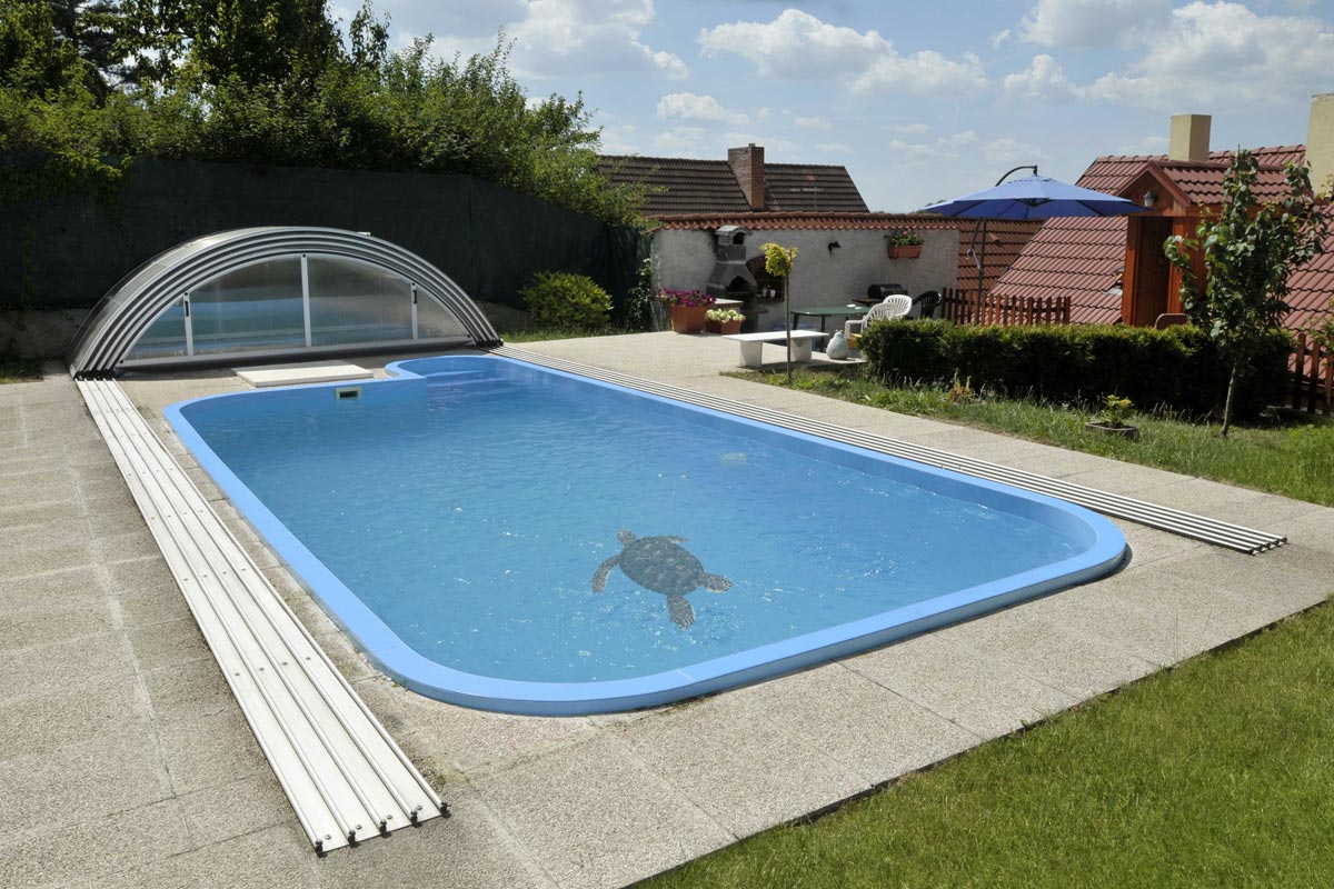 A Pool Decoration Idea Swimming With Dolphin Stickers