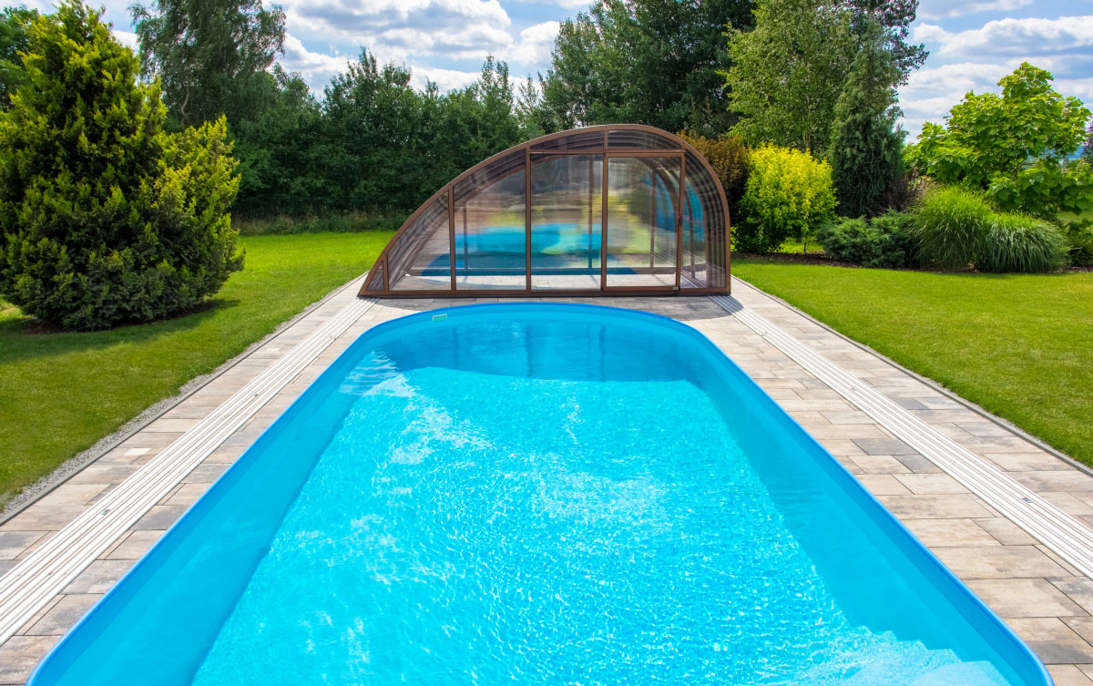 Oval in ground skimmer swimming pool albixon for Pool oval aufstellbecken